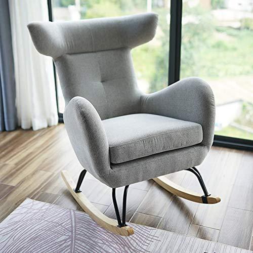 Silla reclinable Glider Sillón lounge Sofá vibratorio Silla de lectura, base de madera maciza con...