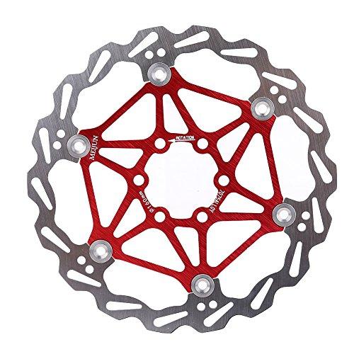 Dilwe Fahrradscheiben Bremsscheibe, Leichte Schwimmende Bremsscheibenbremsbeläge mit T25 Schrauben für Mountain Road Bike 160/180 / 203mm(180mm-Rot)