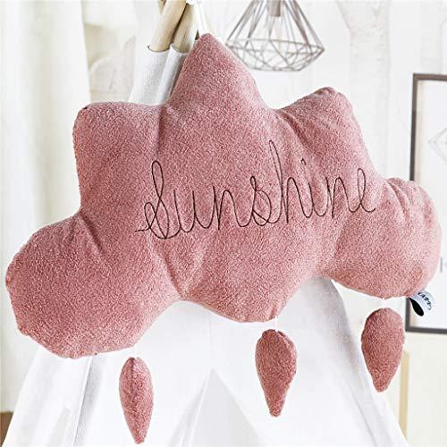 SANFASHION Housse de Coussin 40x40 Effet Lin Decoration Chambre Salon pour Canepe 40x40cm Beige 1 Pièce - Pink,45 * 45