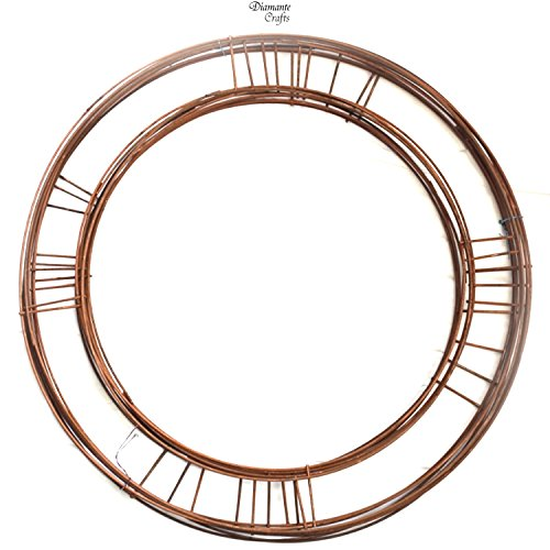 16' inch Wreath Rings Flat Wire Copper Mossing Frame (10)
