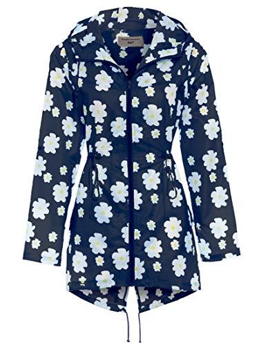 SS7 Damen Regenmantel Regenfester Mac Blau Größe EU 40 - 50 Neu - Gänseblümchen Blau, Damen, 40-42