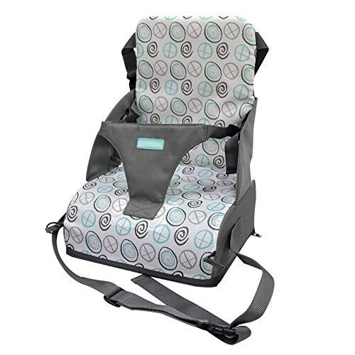 Asiento elevador de seguridad para niños ajustable, asiento elevador para bebés, tapete portátil para comedor infantil y silla de paseo móvil