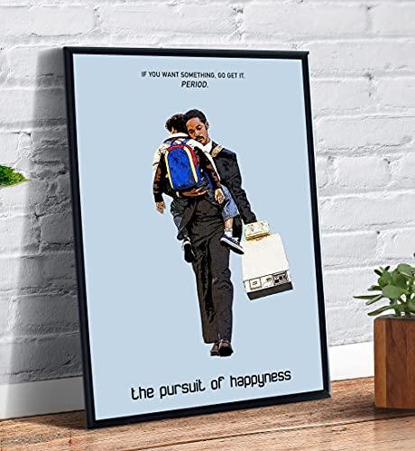 Quadro decorativo Poster A Procura Da Felicidade Filme Arte