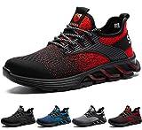 SUADEX Zapatos de Seguridad Hombre Mujer con Puntera de Acero, Zapatillas de Seguridad Hombre Trabajo, Calzado de Seguridad Hombre Trabajo Deportiva y Industrial (Rojo,43EU)