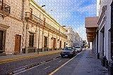 Mesllings Rompecabezas para adultos Arequipa City Street Perú Puzzle 500 piezas de madera de recuerdo de viaje