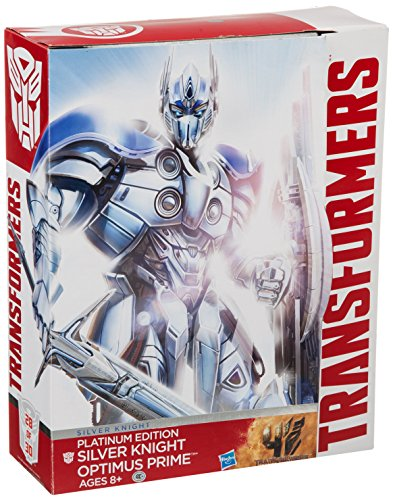 Hasbro Transformers Exclusive Platinum Edition Action Figure Silver Knight Optimus Prime
