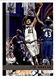 1997-98 Topps - Tim Duncan - San Antonio Spurs NBA Basketball Rookie Card - RC Card #115. rookie card picture