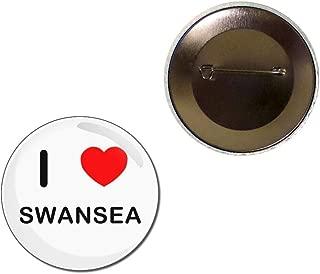 I Love Swansea - Button Badge