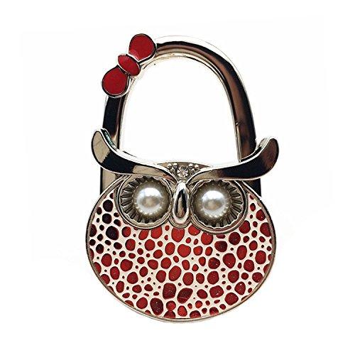 Kebay - Handtaschenaufhänger, Eulen-Design Damen , Rot (rot), Small