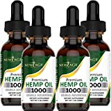 Amazing 4-Pack Bundle Deal, Pure Hemp Oil That Works - Get Qty 4, 1oz (30ml) with 1000 mg of pure premium hemp extract for a price of a 250 mg average bottle. Save Big! Grown & Made In The USA - New Age Naturals hemp extract is made in USA from certi...