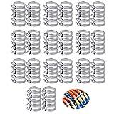 100 Pezzi Collare di Serraggio Fascetta Stringitubo Regolabili Fascette Stringitubo in Metallo Utilizzato per Tubo Dell'Acqua Lavatrice Tubo di Scarico Tubo Dell'Acqua Collegamento(16-25)