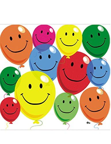 COOLMP 12 Serviettes en Papier Smile 33 x 33 cm - Taille Unique - Décoration et Accessoires de fête, Animation Festive, Anniversaire, Mariage, événement, Jouet, Cotillon