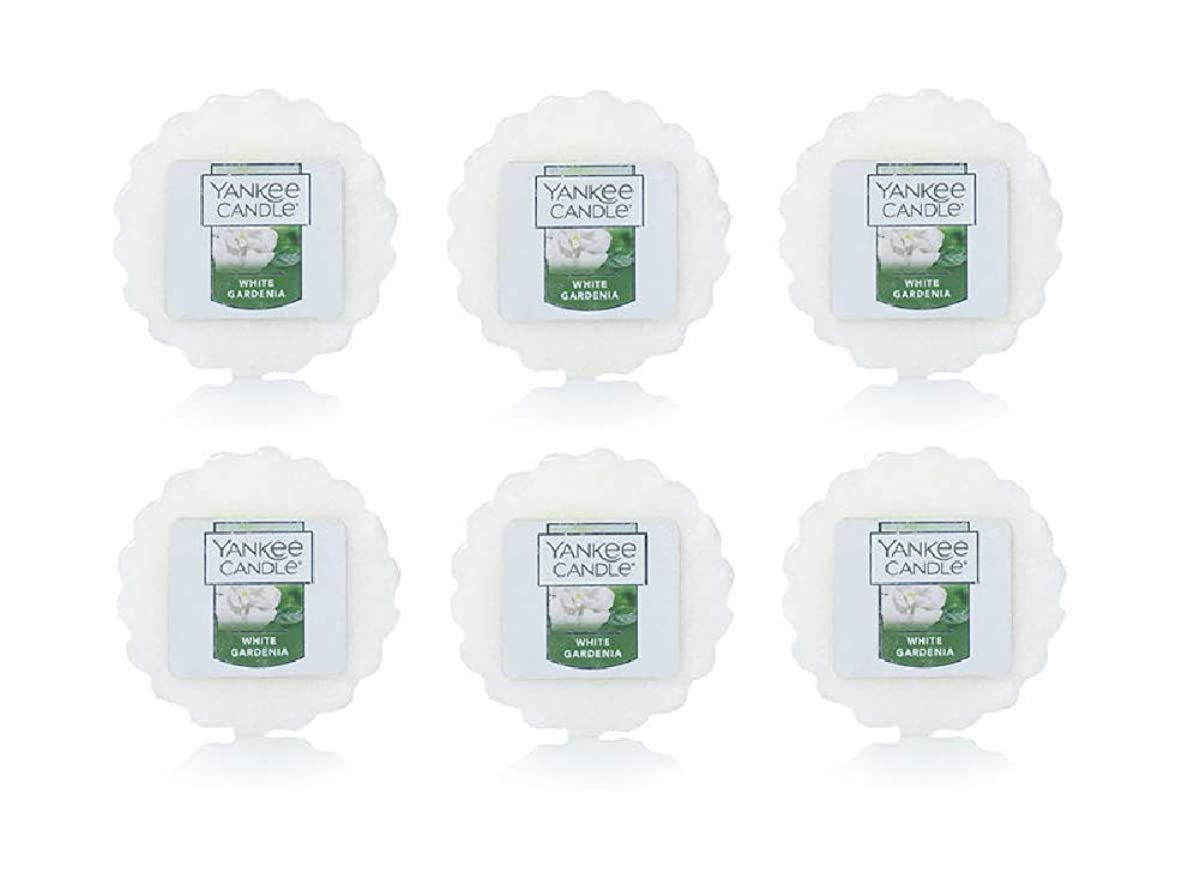Yankee Candle Lot of 6 White Gardenia Tarts Wax Melts