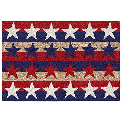 """Liora Manne Frontporch Area Rug, 1'8"""" x 2'6"""", Stars & Stripes"""