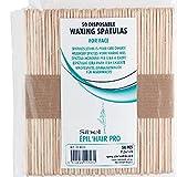 Sibel Pack de 50 Spatules Jetables pour Epilation du Visage 11.3 cm