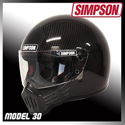 シンプソン(SIMPSON)バイクヘルメットフルフェイスM30カーボン57cmM30
