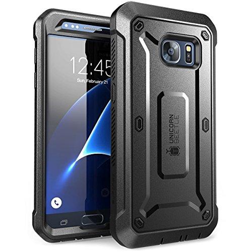 SUPCASE Galaxy S7 Hülle Unicorn Beetle PRO Ganzkörper Hülle Robust Handyhülle Stoßfest Schutzhülle mit eingebautem Bildschirmschutz & Gürtelclip, Schwarz