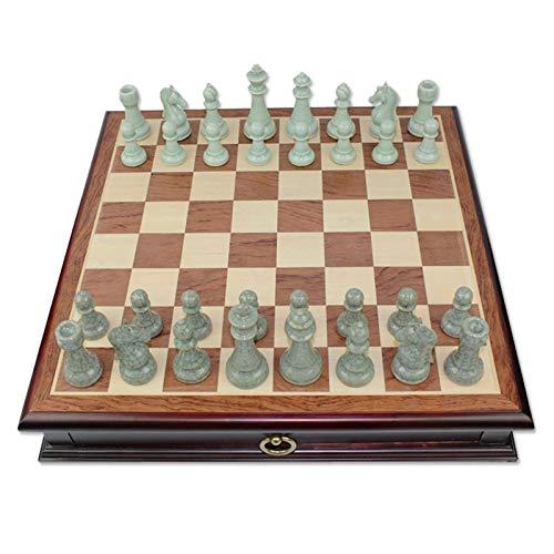 Szachy wysokiej jakości ceramiczny seledynowy łamany blat porcelanowy blat z litego drewna szachy wysokiej klasy szachy 470X470X80