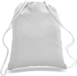 "(10 - Pack) 100% Cotton Drawstring Backpack Bulk, Cotton Cinch Sacks, Cotton Tote Backpack (10Pcs 14""w x 18""h)"