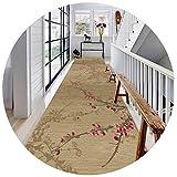 ZHAOHUI-alfombras pasillo Sello Caliente Antideslizante Habitación Cocina Restaurante Personalizable Tamaños Múltiples (Color : A, Size : 1.4x4m)