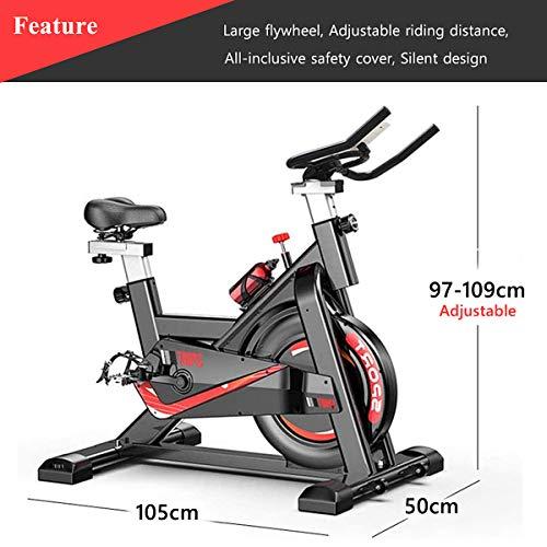 Bicicleta de ejercicio interior para uso doméstico/gimnasio, bicicleta de entrenamiento ajustable, pantalla LCD con monitor de ritmo cardíaco, bicicleta de giro súper silenciosa todo incluido …