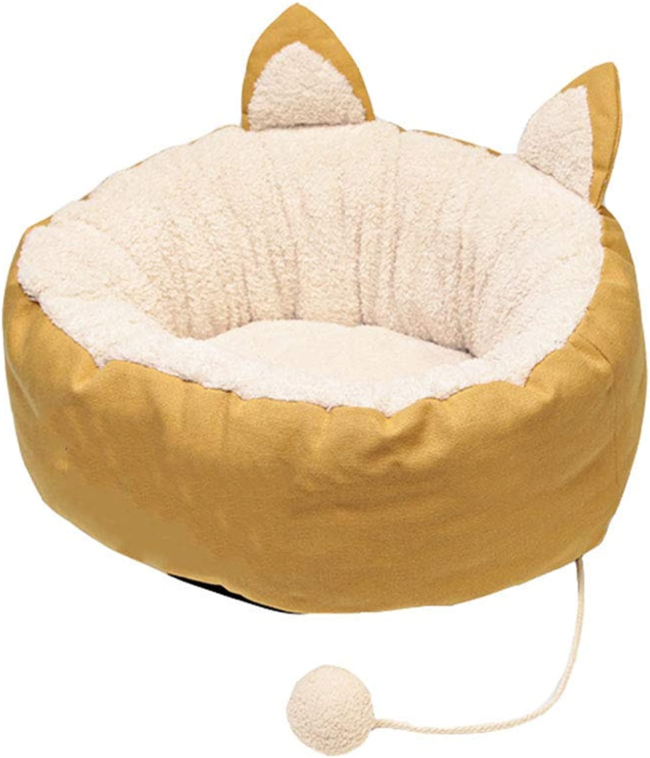 Desti Flakes Pet Bed Donuts Cat Litter Winter Kennel Supplies Small (Size   Small)