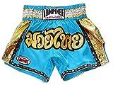 Lumpinee Muay Thai Kick Boxeo Pantalon Thai Shorts : LUM-045-Skyblue-XL