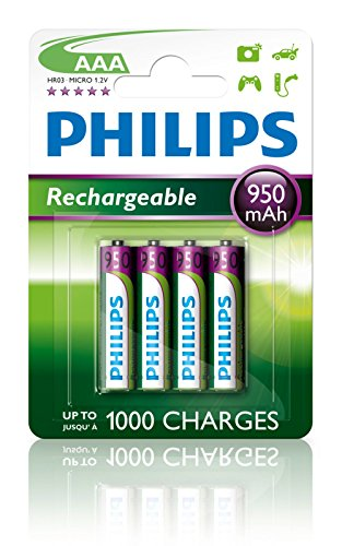 Philips MultiLife NiMH Akku AAA 1000 mAh, 4er Pack