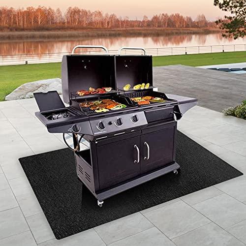 winnerurby Große Grillmatte Outdoor Gas Grill Grill BBQ Bodenmatte, unter der Grillmatte Absorbierende Grillpolster Lightweight Waschbare Fußmatte zum Schutz von Decks und Patios von Fett Splatter