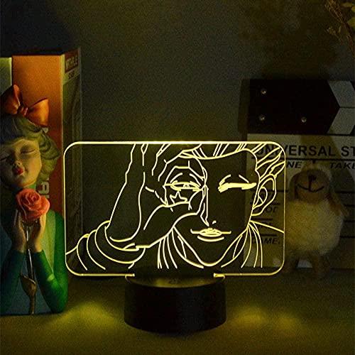 Lámpara de ilusión 3D LED noche luz anime Hunter x Hunter Hisoka noche lámpara de mesa ambiente decoración niños regalo de cumpleaños dormitorio escritorio 16 colores
