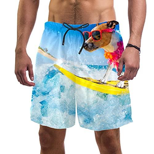 RuppertTextile Pantalones Cortos Hombre Bañadores Secado rápido Bolsillos Cordónsurf de Perro Trajes baño Playa Deportivos Casuales