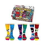 Stress Heads Oddsocks Socken in 39-46 im 6er Set - Stress Kopf Oddsocks Strumpf