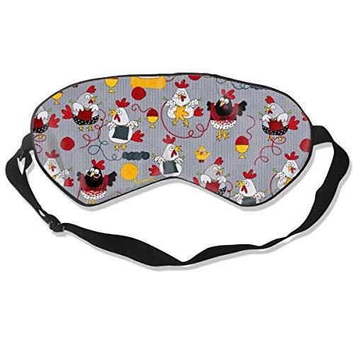 Natuurlijke Zijde Glad Oogmasker, Drukvrij Slaap Masker Verstelbare Blindfold, voor Volwassen Kinderen Tieners Slapen Shift Werk Naps Reizen Ooghoes, Rode Kippen Grijze Oogschaduw