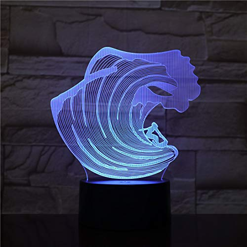 3D Led Night Light Spray lámpara táctil remota 3d