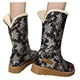 Berimaterry Botas de Nieve para Mujer Botas De Nieve De Punto Unidas para Mujer Zapatillas sin Cordones con Punta Redonda para Mujer Deporte Ocasionales Botines de Nieve Ocasionales