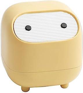 KoomTOOM Petite poubelle avec couvercle Motif ninja Presse pour bureau, chambre à coucher, avec 1 rouleau de sac poubelle ...