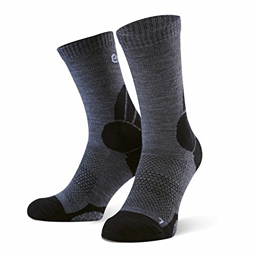 umi. Trekkingsocks, Merino, Grey-Orange, 43-46