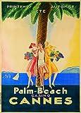 Vintage Travel Frankreich für Cannes und die palm-beach