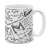 MUGBREW Math Equations - Tazza da tè in ceramica, motivo: lavagna bianca