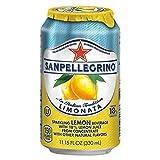 SanPellegrino Italian Sparkling Lemon Beverage - Ready-to-Drink - Limonata Flavor - Can - 12 / Carton