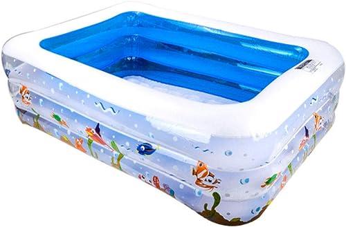 muy popular HErojoIGH Piscinas Hinchables Grueso Plegable Ecológico Ecológico Ecológico Bebé Inflable Bebé Piscina Niños Familia Tres Anillos Reunión Familiar 155X108X52Cm Inflatable Pool  Obtén lo ultimo