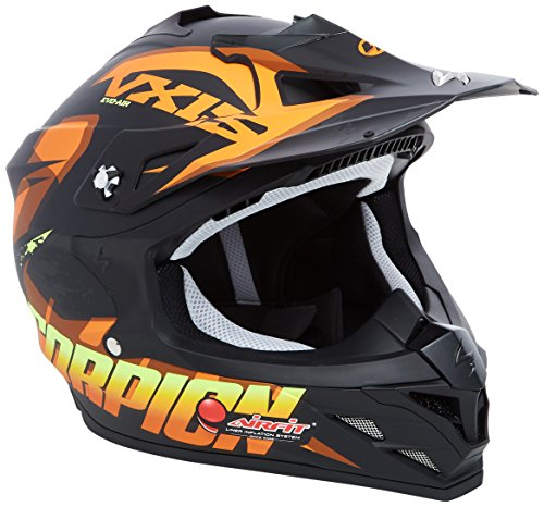 Scorpion Casco moto VX-15 EVO AIR DEFENDER Opaco Nero-Arancia M