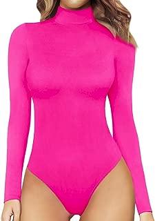 Women's Mock Neck/Turtle Neck Long Sleeve Modal Bodysuit...