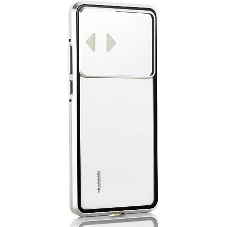 P40 Pro ケース Huawei p40pro 対応 uovon マグネット式 金属バンパー スライド式 カメラレンズ保護 360° 全面保護 耐衝撃 軽量 ガラスケース ・ シルバー