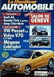 MONITEUR AUTOMOBILE (LE) [No 1129] du 20/03/1997 - ESSAIS - SALON DE GENEVE - AUDI A6 - HONDA CIVIC - JEEP CHEROKEE - VW PASSAT - VOLVO V70 - MEGANE CABRIOLET -