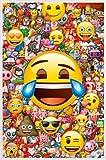 1art1 Smileys Póster con Marco (Plástico) - Emoji (91 x 61cm)