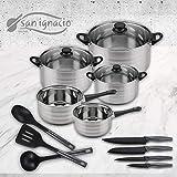 San Ignacio Premium Set de Bateria 8 Piezas + 4 Cuchillos 3 Cocina, 8 pcs + utensilios