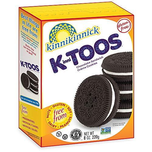 Kinnikinnick KinniTOOS Gluten Free Chocolate Sandwich Cream Cookies, 8oz/220g (Pack of 6)