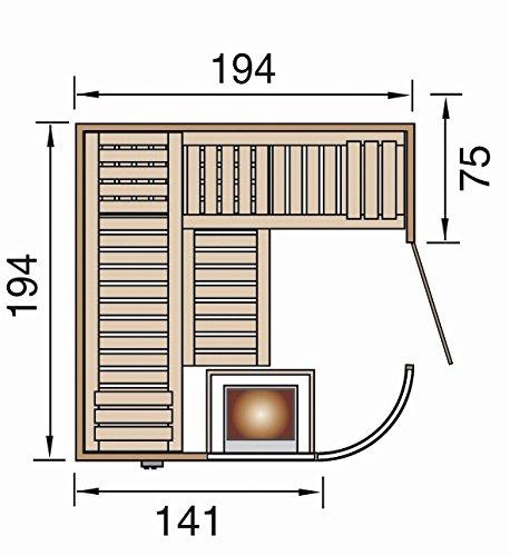 Weka Design-Sauna SARA 1 OS