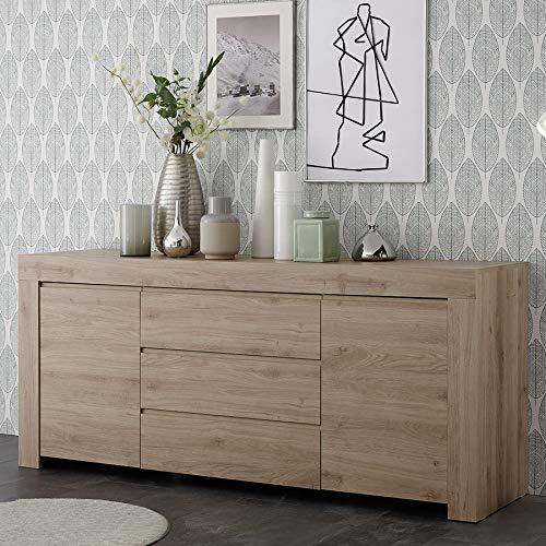 M-012 dressoir modern, 210 cm, licht eiken Alano
